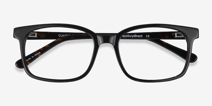 Claudia Brown/Tortoise Acetate Eyeglass Frames from EyeBuyDirect, Closed View
