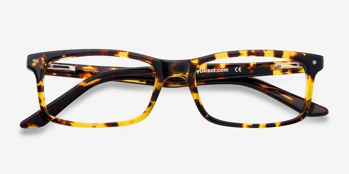 Mandi Tortoise Acetate Eyeglass Frames from EyeBuyDirect, Closed View
