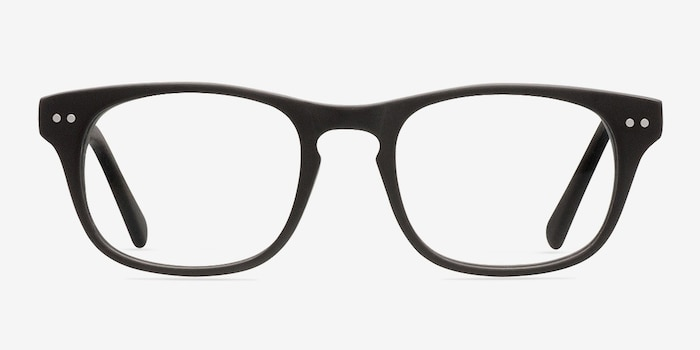 Carla Coffee Acetate Eyeglass Frames from EyeBuyDirect, Front View