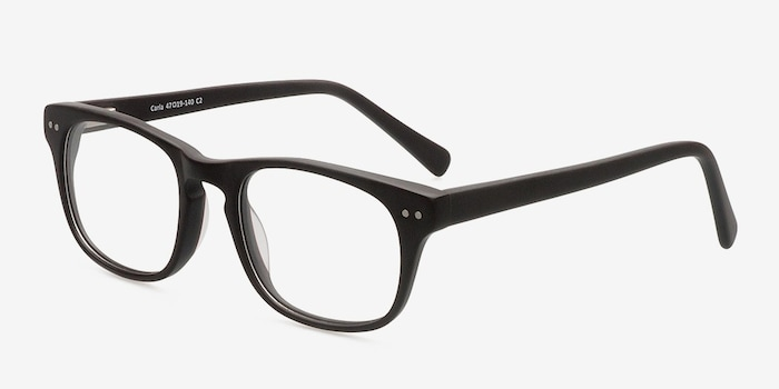 Carla Coffee Acetate Eyeglass Frames from EyeBuyDirect, Angle View