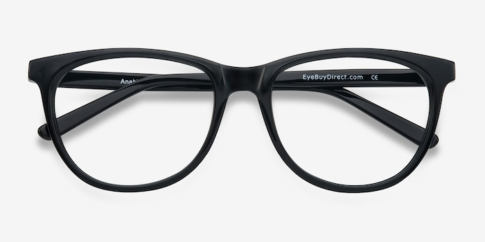 Anahi Black Acetate Eyeglass Frames from EyeBuyDirect, Closed View
