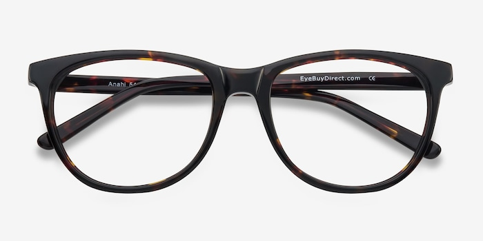 Anahi Brown/Tortoise Acetate Eyeglass Frames from EyeBuyDirect, Closed View