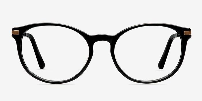 Black New Bedford -  Fashion Acetate Eyeglasses