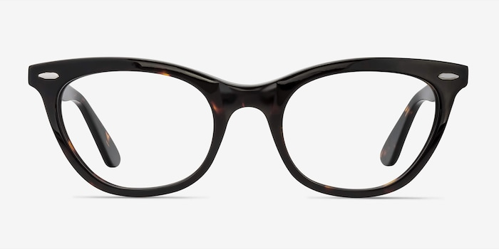 Ellie Tortoise Acetate Eyeglass Frames from EyeBuyDirect, Front View