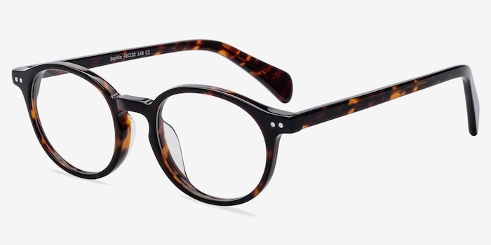 Sophie Tortoise Acetate Eyeglass Frames from EyeBuyDirect, Angle View