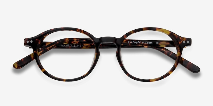 Sophie Tortoise Acetate Eyeglass Frames from EyeBuyDirect, Closed View
