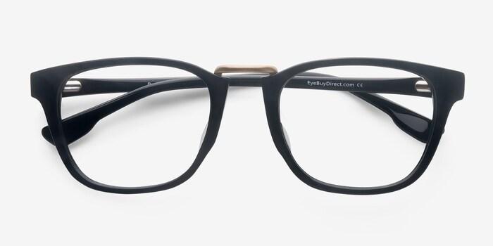 Dandy Black Acetate Eyeglass Frames from EyeBuyDirect, Closed View