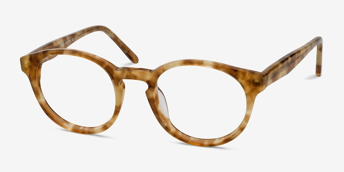 Jade Tortoise Acetate Eyeglass Frames from EyeBuyDirect, Angle View