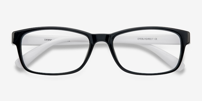 Danny | Black/White Plastic Eyeglasses | EyeBuyDirect