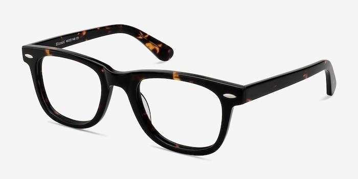 Blizzard Dark Tortoise Acetate Eyeglass Frames from EyeBuyDirect, Angle View