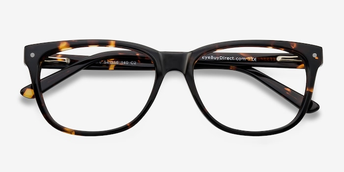 Allure Tortoise Acetate Eyeglass Frames from EyeBuyDirect, Closed View