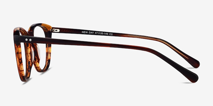 New Day Brown Acetate Eyeglass Frames from EyeBuyDirect, Side View