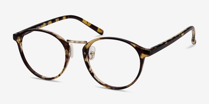 Chillax Tortoise Metal Eyeglass Frames from EyeBuyDirect, Angle View