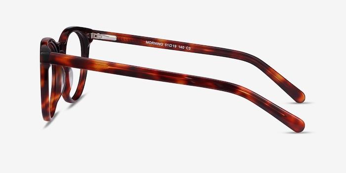Morning Tortoise Acetate Eyeglass Frames from EyeBuyDirect, Side View