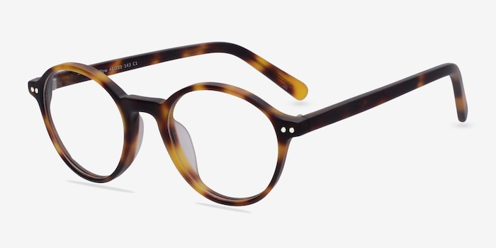 Mellow Matte Tortoise Acetate Eyeglass Frames from EyeBuyDirect, Angle View