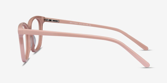 Brittany Pink Acetate Eyeglass Frames from EyeBuyDirect, Side View