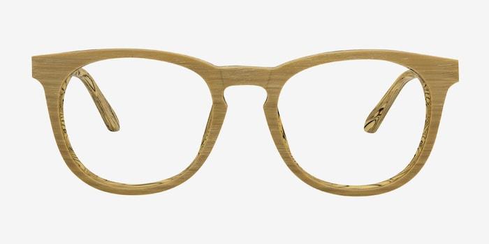 Yellow Providence -  Fashion Wood Texture Eyeglasses