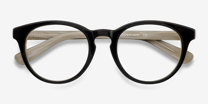 Stanford Brown Acetate Eyeglass Frames from EyeBuyDirect, Closed View