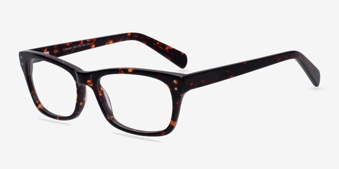 Avalon Tortoise Acetate Eyeglass Frames from EyeBuyDirect, Angle View