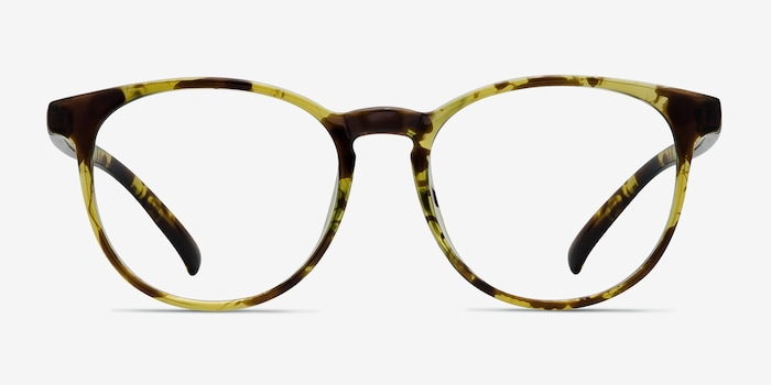 Chilling Tortoise Plastic Eyeglass Frames from EyeBuyDirect, Front View