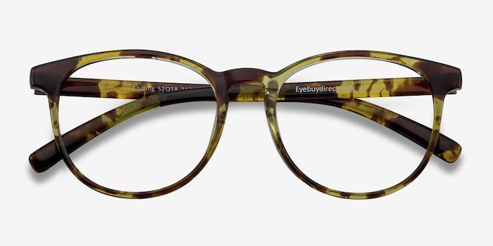 Chilling Tortoise Plastic Eyeglass Frames from EyeBuyDirect, Closed View