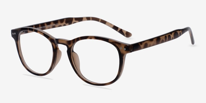 Instant Crush Leopard Plastic Eyeglass Frames from EyeBuyDirect, Angle View