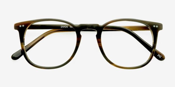 Shade Macchiato Acetate Eyeglass Frames from EyeBuyDirect, Closed View