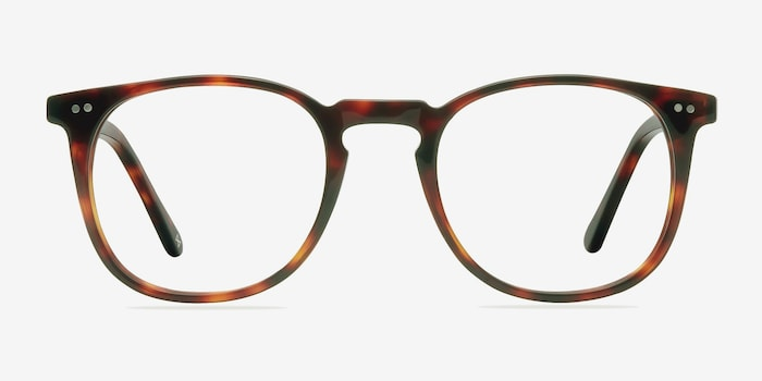Shade Warm Tortoise Acetate Eyeglass Frames from EyeBuyDirect, Front View