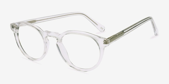 Theory Translucent Acetate Eyeglass Frames from EyeBuyDirect, Angle View