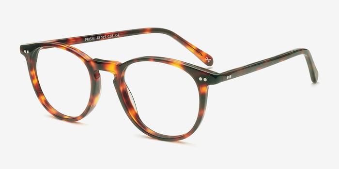 Prism Warm Tortoise Acetate Eyeglass Frames from EyeBuyDirect, Angle View