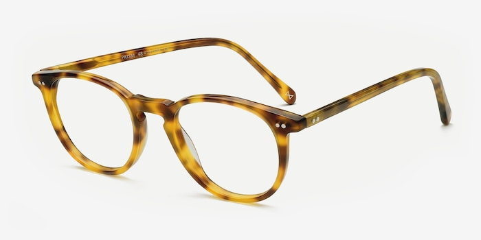 Prism Blonde Tortoise Acetate Eyeglass Frames from EyeBuyDirect, Angle View
