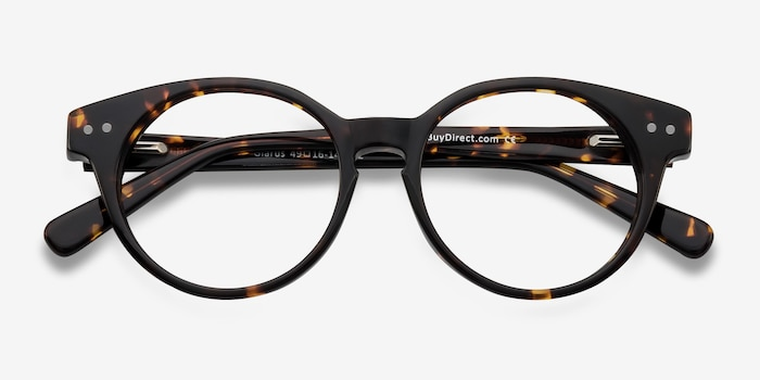 Glarus Tortoise Acetate Eyeglass Frames from EyeBuyDirect, Closed View