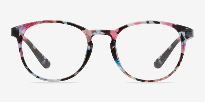 Pink Floral Muse -  Colorful Plastic Eyeglasses