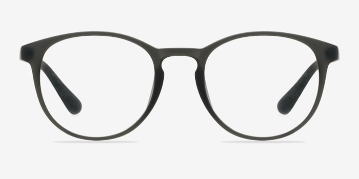 Muse Matte Gray Plastic Eyeglass Frames from EyeBuyDirect, Front View