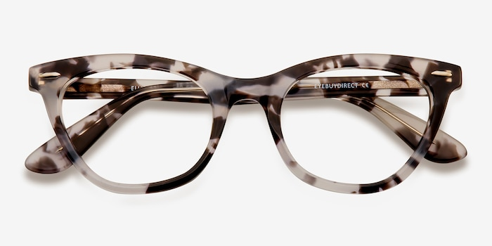 Ellie Gray Acetate Eyeglass Frames from EyeBuyDirect, Closed View