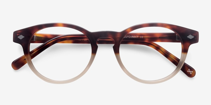 Concept Macchiato Tortoise Acetate Eyeglass Frames from EyeBuyDirect, Closed View