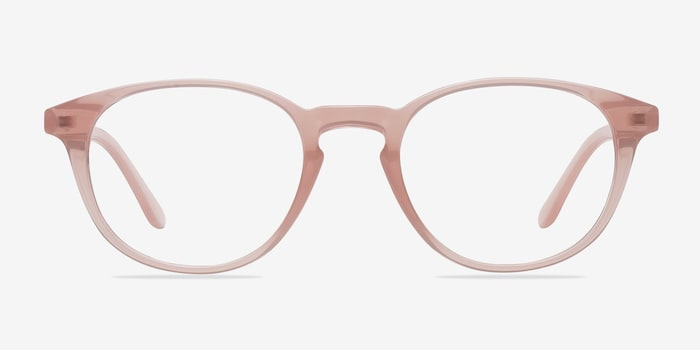 Sea Breeze Pink Plastic Eyeglass Frames from EyeBuyDirect, Front View