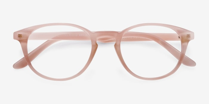 Sea Breeze Pink Plastic Eyeglass Frames from EyeBuyDirect, Closed View