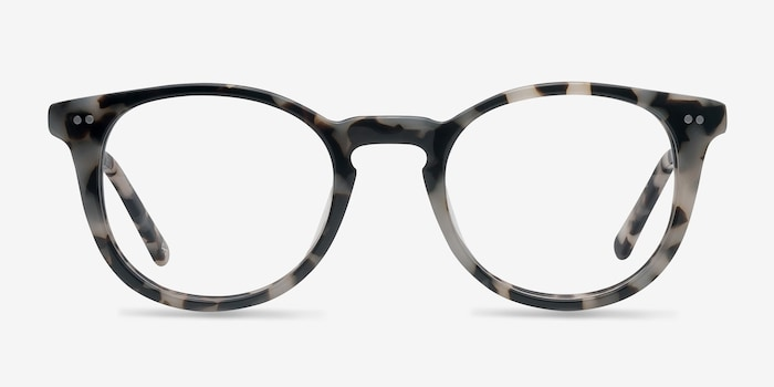 Aurora Flecked Ivory Acetate Eyeglass Frames from EyeBuyDirect, Front View