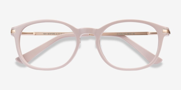 New Bedford Faded Rose Acetate Eyeglass Frames from EyeBuyDirect, Closed View