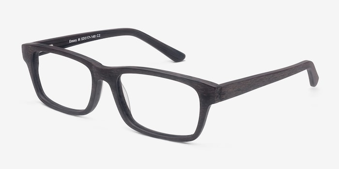 Emory Coffee Acetate Eyeglass Frames from EyeBuyDirect, Angle View