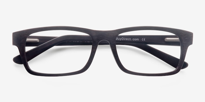 Emory Coffee Acetate Eyeglass Frames from EyeBuyDirect, Closed View