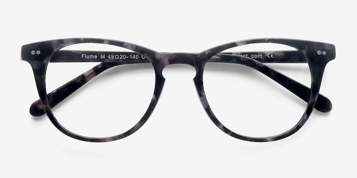 Flume Gray Floral Acetate Eyeglass Frames from EyeBuyDirect, Closed View
