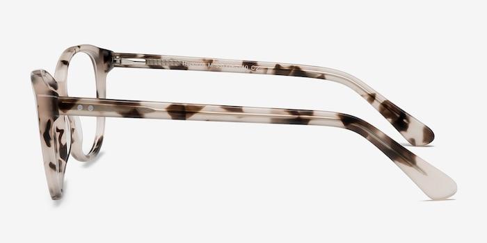 Hepburn Ivory Tortoise Acetate Eyeglass Frames from EyeBuyDirect, Side View