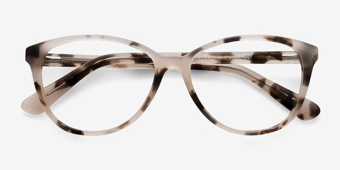 Hepburn Ivory Tortoise Acetate Eyeglass Frames from EyeBuyDirect, Closed View