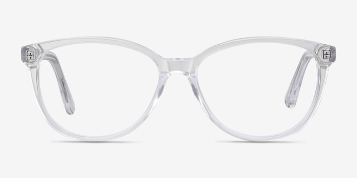 Hepburn Clear Acetate Eyeglass Frames from EyeBuyDirect, Front View