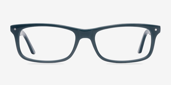 Mandi Teal Acetate Eyeglass Frames from EyeBuyDirect, Front View