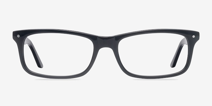 Mandi Black Acetate Eyeglass Frames from EyeBuyDirect, Front View