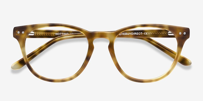 Notting Hill Tortoise Acetate Eyeglass Frames from EyeBuyDirect, Closed View