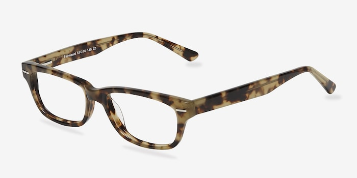 Fairmount Brown Tortoise Acetate Eyeglass Frames from EyeBuyDirect, Angle View